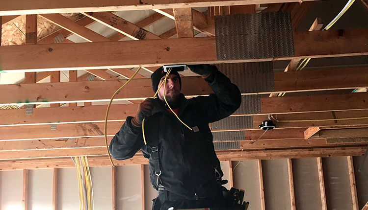 Todavich Electric Employee working on residential wiring